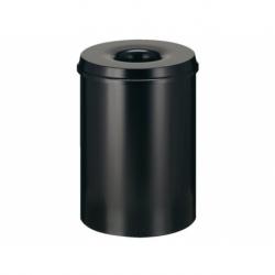 Papierbak+vlamdover vepabins 15liter r 25.5cm zwart