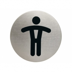 Infobord pictogram Durable wc heren rond 83mm
