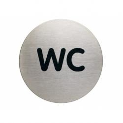 Infobord pictogram Durable wc rond 83mm