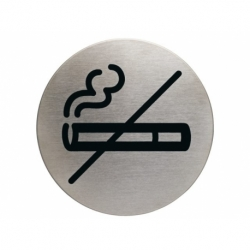 Infobord pictogram Durable niet roken rond 83mm