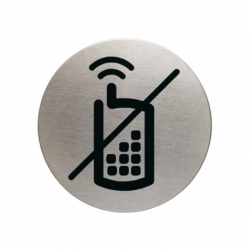 Infobord pictogram Durable gsm verboden rond 83mm