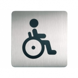Infobord pictogram Durable vierkant wc inval 150mm