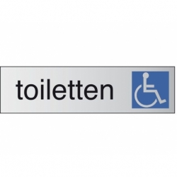 Infobord pictogram toiletten rolstoel 165x44mm
