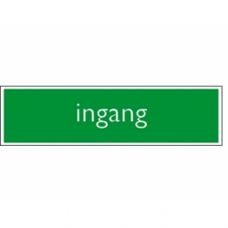 Infobord pictogram ingang 165x44mm