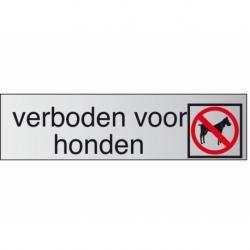 Infobord pictogram verboden voor honden 165x44mm