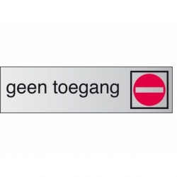 Infobord pictogram geen toegang 165x44mm
