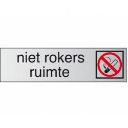 Infobord pictogram roken verboden 165x44mm