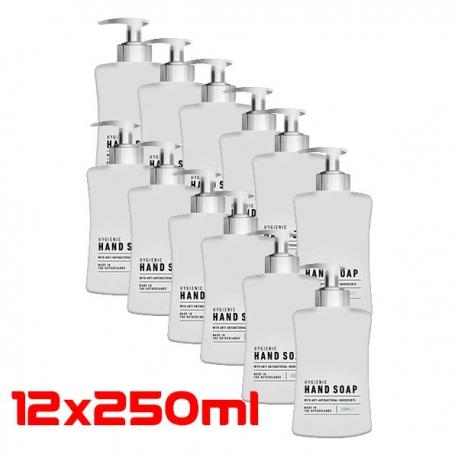Handzeep met antibacteriële ingrediënten (12x250ML)