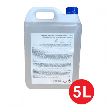 Desinfectie alcohol 83% - 5 Liter