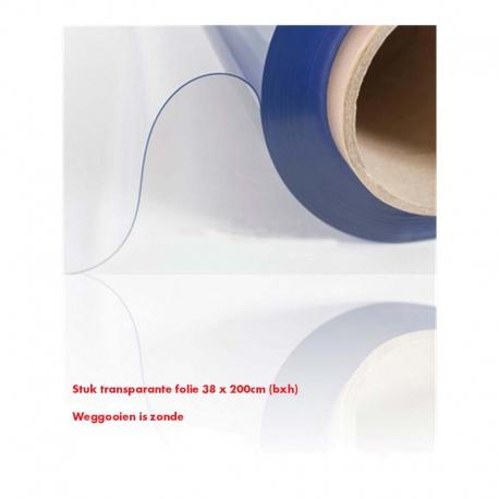 Transparante folie UV 0,50mm 38x200cm (bxh)