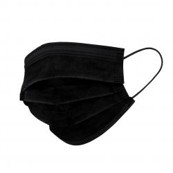 Mondkapjes niet medisch zwart, 50 stuks per doos, 3-laags - Extra voordelig