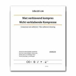 Niet-verklevend kompres 10x10 cm