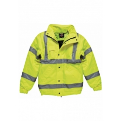 High Visibility Bomber Jacket - Geel