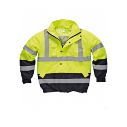High Visibility Two Tone Pilot Jacket inclusief bedrukking
