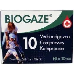 Biogaze verbandgazen 10x10cm