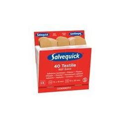 Salvequick 6 stuks navullingen Textiel