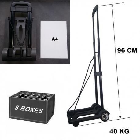 Zeer compacte stevige handtrolley