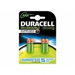 Batterij oplaadbaar Duracell aaa duralock 800mah