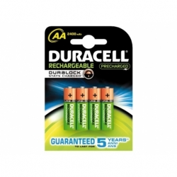 Batterij oplaadbaar Duracell aa duralock 2400mah