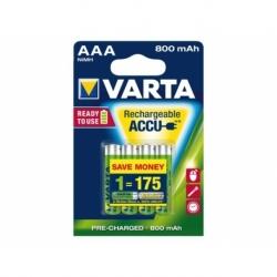 Batterij oplaadbaar Varta aaa 800mah r2use