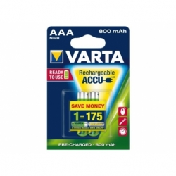 Batterij oplaadbaar Varta aaa 800mah ready2use