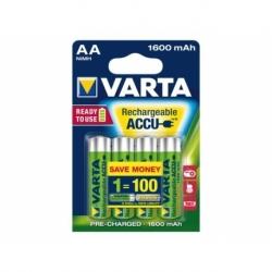 Batterij oplaadbaar Varta aa hr6 2600mah ready2use