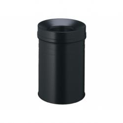 Papierbak+vlamdover 15ltr zwart